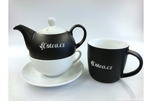 Porcelánové konvice a hrnky