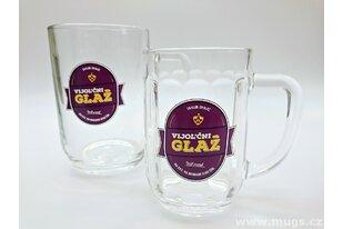 Pivní sklenice s reklamním potiskem