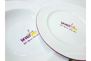Porcelánové firemní talíře