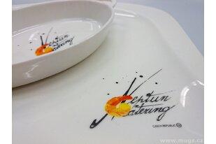Porcelánové talíře s potiskem