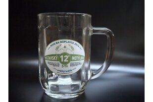 Pivní sklenice s potiskem loga