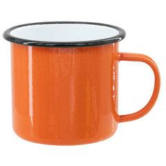 Orange sublimation tin mug 360 ml (black rim)
