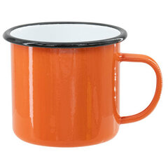Oranžový sublimační plecháček 360 ml (černý lem)