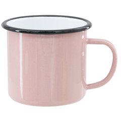 Pink sublimation tin mug 360 ml (black rim) NOT IN STOCK