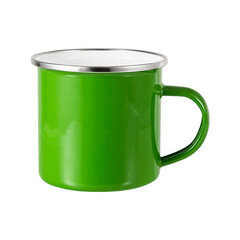 Green sublimation tin mug 360 ml (silver rim)