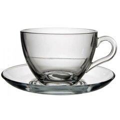 Sklenená Cappuccino šálka s tanierikom 215 ml