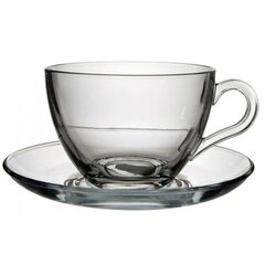 Skleněný Cappuccino šálek s podšálkem 215 ml
