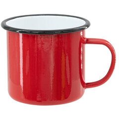 Red sublimation tin mug 360 ml (black rim)