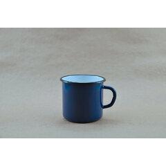 Modrý plechový hrnek 400 ml