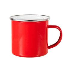 Red sublimation tin mug 360 ml (silver rim)