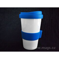 Porcelánový cestovní hrnček TO GO modrý