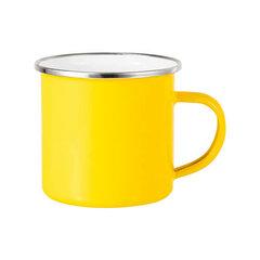 Yellow sublimation tin mug 360 ml (silver rim)